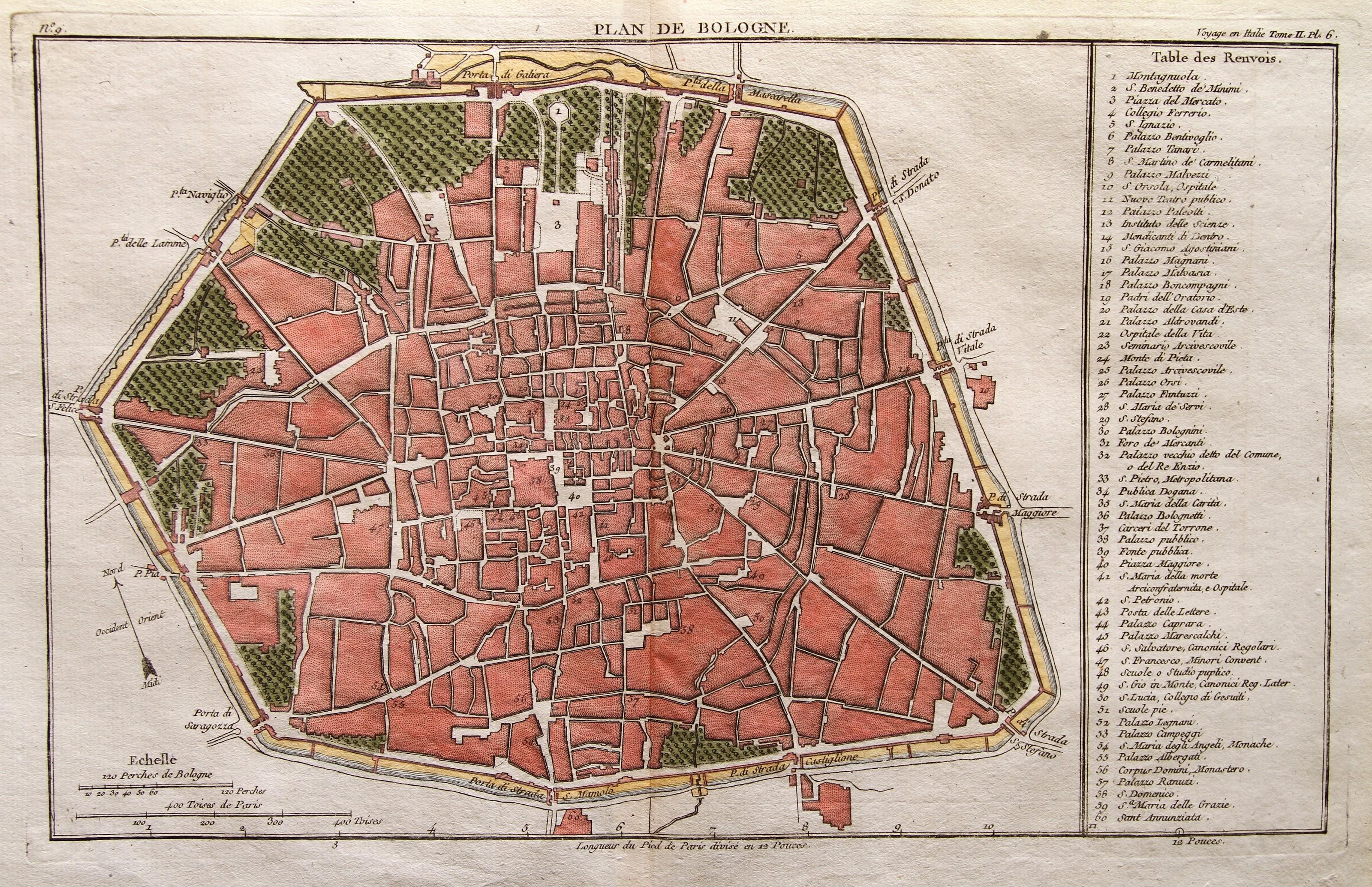 Cartina Stradale Di Napoli Citta.Piante Della Citta Origine Di Bologna