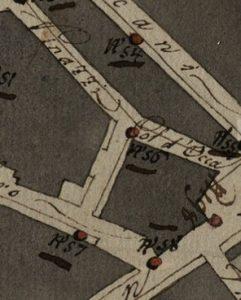Progetto per l'illumnazione pubblica (secolo XIX): Col d'Occa.