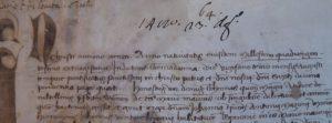prime righe del rogito del 23 agosto 1480.