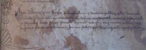 Firma del notaio Albizus de Dugliolo.