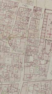 """Particolari tratti dal Catasto Gregoriano (1835) della città di Bologna, messo a disposizione dall'Archivio di Stato di Roma con il progetto """"Imago II""""."""