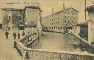 Il Canale di Reno presso il Molino Canonica a Casalecchio di Reno.