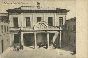 Ospedale Maggiore, nato durante il periodo del governo napoleonico dalla soppressione degli antichi ospedali e delle arciconfraternite della Vita e della Morte.